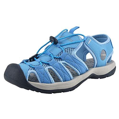 Knixmax-Sandalias de Senderismo Verano para Hombre Mujer Verano Exterior Senderismo Ligeras Antideslizantes Zapatillas Trekking Deportivas Casuales Sandalias de Playa, W-Azul 40