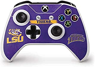 Skinit Decal Gaming Skin for Xbox One S Controller - Officially Licensed College LSU Tigers Design