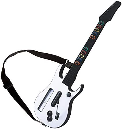 DOYO White Wii Guitar Wireless Hero and Rock Band Guitar Controller with Strap for Hero and product image