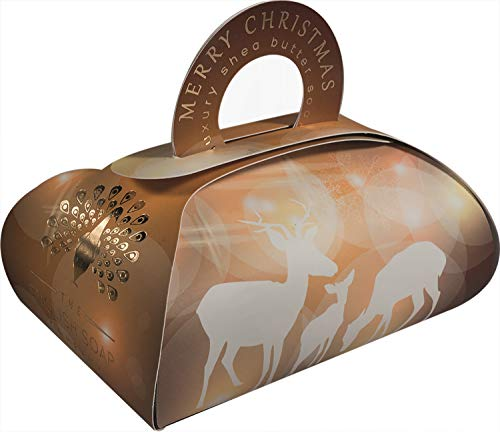 The English Soap Company, Large Gift Bag Bath Soap, Reindeer, 260g