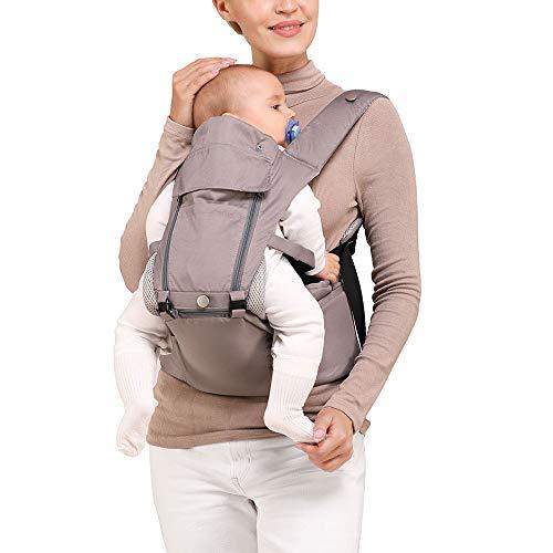 Xatan Babytrage Hüfthocker, All-in-1 Baby-Hüftsitz, alle Tragepositionen, für Neugeborene bis Kleinkinder, ergonomische Trage mit weichem, atmungsaktivem Luftgurt und allen verstellbaren Schnallen