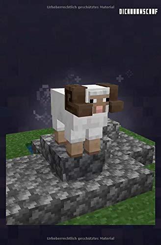 Minecraft Dickhornschaf (Horned Sheep) Notizbuch, Protokoll, Tagebuch: Dickhornschaf Notizbuch (MCE Black)