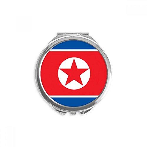 DIYthinker corée du nord drapeau national asiatique symbole miroir rond maquillage de poche à la main portable 2,6 pouces x 2,4 pouces x 0,3 pouce Multicolore