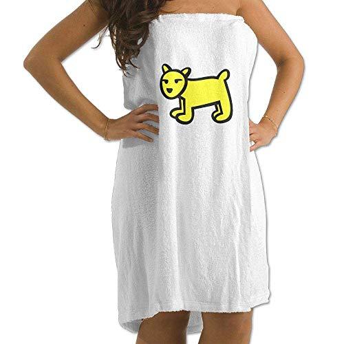 asdew987 Toalla de baño con estampado de perrito, toalla de baño para mujer, toalla de ducha y envoltura, chal de natación, albornoz para mujeres y niñas, color blanco