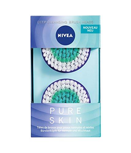 NIVEA PURE SKIN Deep cleansing Bürstenkopf für elektrische Gesichtsreinigungsbürste, 1 x 2st