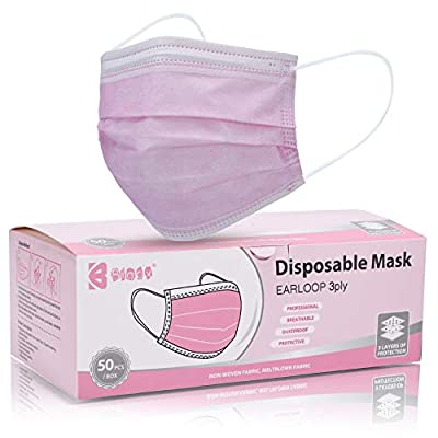 Bigox Face Mask Pink 50Pcs from Bigox