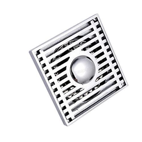 Double Purpose Bodenablaufabdeckung 4 Zoll quadratisches Duschwaschbecken Kupferablauffilter Badezimmerboden mit abnehmbarem Deckel Waschmaschine Küchengerät Verwenden Sie D für Küchenbalkon Badezimm