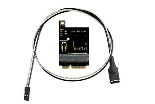 OSXWiFi Broadcom WiFi + Bluetooth 4.0 Card to miniPCIe Adapter for Mac Pro 2009 (4,1) and Mac Pro 2010-2012 (5,1)
