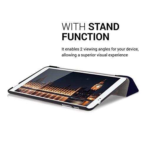 kwmobile Huawei MediaPad T1 10 Hülle - Smart Cover Tablet Case Schutzhülle für Huawei MediaPad T1 10 - Dunkelblau - 6