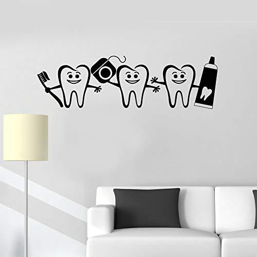 Tianpengyuanshuai Gezonde tanden badkamer decoratie tandheelkundige zorg muur stickers tandarts logo deuren en ramen decals kinderkamer kamer muur stickers