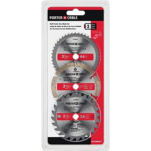 Porter Cable PC338MULTI 3 pack Circular Saw Blades 3-1/2""