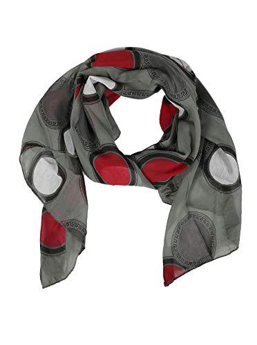 Zwillingsherz Seiden-Tuch im Punkt Design - Hochwertiger Schal für Damen Mädchen - Halstuch - Umschlagstuch - Loop - weicher Schlauchschal für Frühjahr Sommer Herbst und Winter -oliv