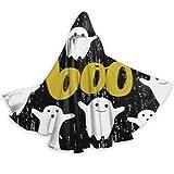 YUXB - Mantello con cappuccio per Halloween, unisex, con simpatico biglietto d'invito per Halloween, con cappuccio, per adulti, cosplay, feste, Halloween, Natale