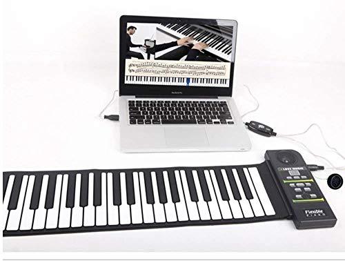Multi Style draagbare 88 toetsen flexibele siliconen Roll Up Piano Folding Electronic Keyboard for Children Student (Kleur: Zwart) 8bayfa (Color : Black)
