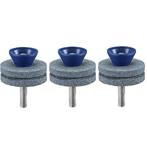 Wear Bravosoleil Segadora Hoja Resistente Sacapuntas Doble Capa Azul De La Muela De Césped Sacapuntas Para Cualquier 3pcs Taladro De Mano De Alimentación