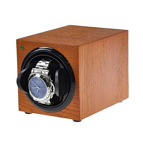 YZSHOUSE Automático Soltero Cajas Giratorias para Relojes, Carbón Cuero de PU Reloj Estuche Bobinadora con Motor Silencioso Watch Winder 4 Modos de Rotación (Color : H)