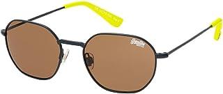 Superdry Unisex Sunglasses - Matte navy/lime solid brown - SDSUPER7-006 - size 52-18-143 mm