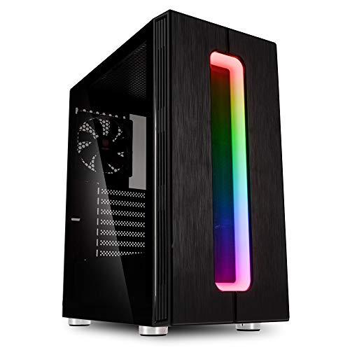 Kolink Nimbus -Case RGB Mid-Tower ATX (SECC 1mm)- per PC Gaming con Pannello Laterale in Vetro temperato