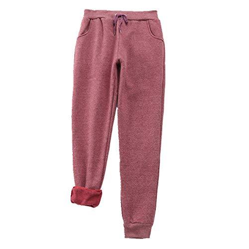 Pantalones casuales gruesos de las mujeres otoño invierno sólido cintura alta pantalones de las mujeres pantalones harem pantalones de chándal