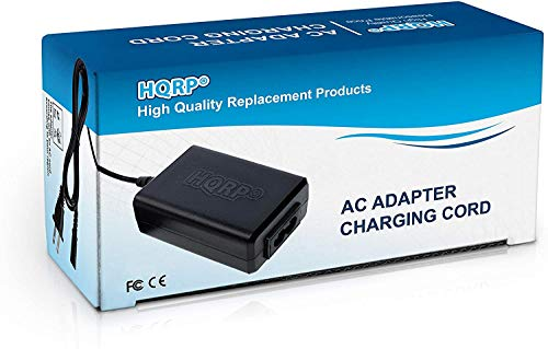 HQRP AC Adapter/Charger Compatible with JVC AP-V14 AP-V15 AP-V16 GZ-MG630A GZ-MG21U GR-D72U GZ-MG27U GR-D93U GR-D371US GR-D375US GR-D395US GR-AX890US GR-D230US GZ-MS100 GR-AXM17U GR-AXM18U Camcorder