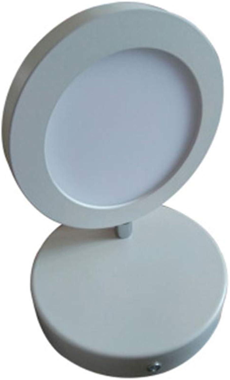 LED Wandleuchte Nachttischlampe Runde Lampe Warmwei Kreative Wandleuchte Gang Flur Wandleuchte,Weiß