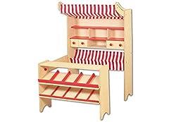 pinolino kaufladen aus holz marktstand lucy der testsieger. Black Bedroom Furniture Sets. Home Design Ideas
