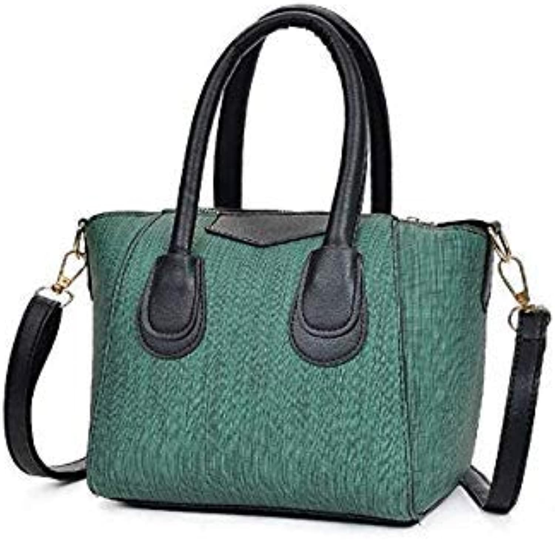 Luxury pu Leather Bag Female Vintage Messenger Women Handbag Cross Body New Design Ladies Womens Purses and Hand Bag Green