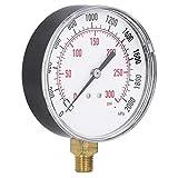 0‑2000kpa 0‑300psi confiable manómetro de vacío de Doble Escala Mini dial Herramienta de medición de manómetro para Combustible, Aire, Aceite o Agua