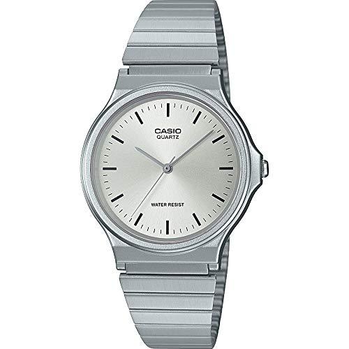 CASIO Unisex Erwachsene Analog Quarz Uhr mit Edelstahl Armband MQ-24D-7EEF