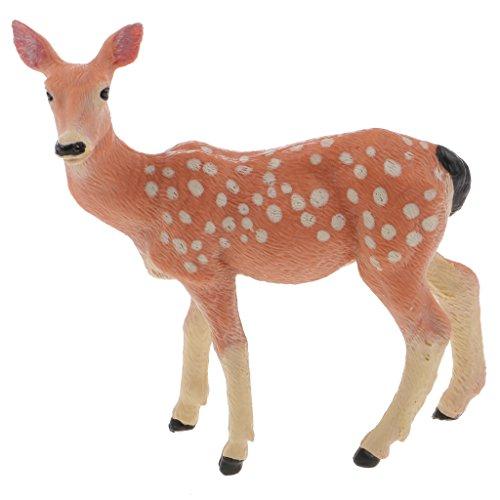 Sharplace Modelo de de Animal Salvaje de Ciervo Sika Realista, Juguete para Niños, Regalo, Decoración del Hogar