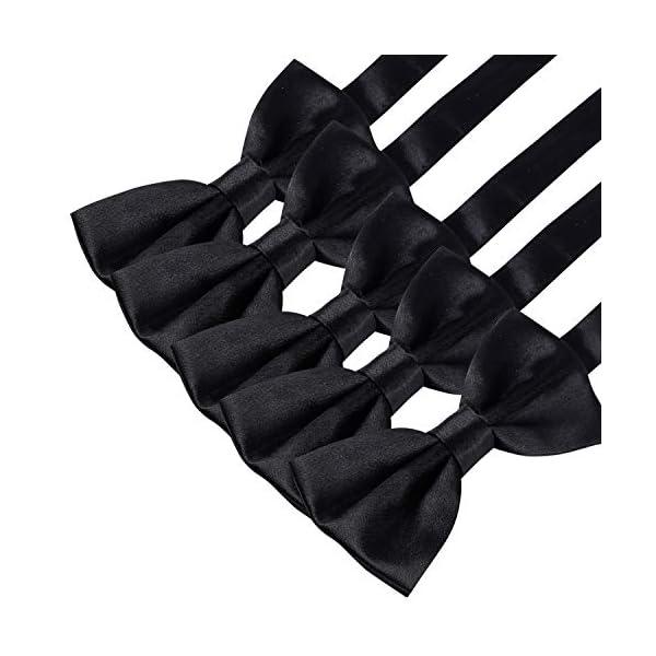 Elegant Pre-tied Bow ties Formal Tuxedo Bowtie Set with Adjustable Neck Band,Gift Idea For Men And Boys(5/8/10/20 Pcs), 10 Pcs6, Medium