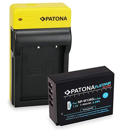 PATONA Platinum Batteria NP-W126S con Slim Caricatore compatibile con Fujifilm FinePix HS30EXR HS33EXR HS50EXR XPro-1 XPro-2