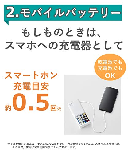 パナソニック単3形・単4形USB入出力急速充電器BQ-CC87L