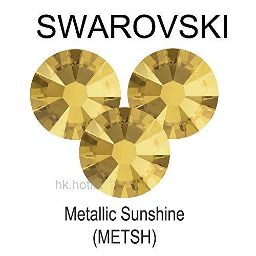 ASTONISH Swarovski Elementos metálicos Sunshine (Metsh) (No de revisión/Hotfix) Plancha On (SS5 - SS34) (2 mm - 7 mm) Flatback Crystal Rhinestone: (de revisión) Hierro en, SS6 (1,9-2,0) mm, 12 Piezas