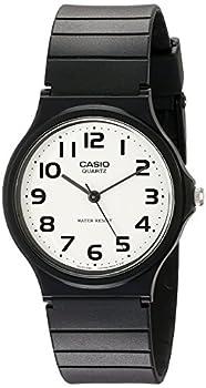 Casio Men s Classic Quartz Watch with Resin Strap Black 20  Model  EAW-MQ-24-7B2