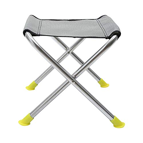 DEI QI Chaise de Banc extérieure Se Pliante portative de Tabouret d'acier Inoxydable (Size : L)