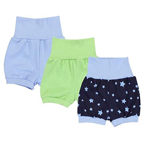 TupTam Baby Unisex Kurze Pumphose Sommershorts 3er Pack, Farbe: Junge 2, Größe: 68/74