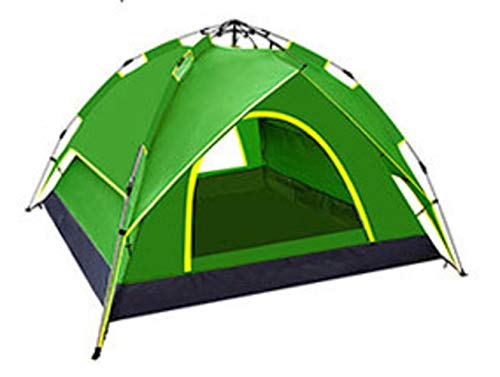 Generic Brands Tente 5-6 Personnes Tente de Camping Automatique à Double Couche pour Une Utilisation en extérieur Tente de Ressort de Parasol Gratuit