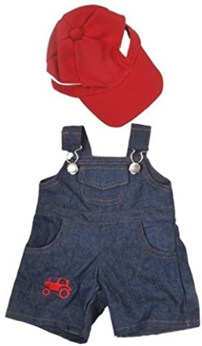 Ahorre 35% - 70% de descuento Farmer Outfit Outfit Outfit with Cap Outfit Teddy Bear Clothes Fits Most 14  - 18  Build-A-Bear, Vermont Teddy Bears, and Make Your Own Stuffed Animals by Teddy Mountain  el más barato
