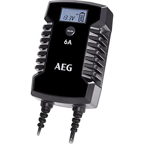 AEG Automotive 10617 Mikroprozessor-Ladegerät für Auto Batterie LD 6.0, 6 Ampere für 6/12 V, 7-HF Ladestufen, Autostartfunktion Komfortanschluss
