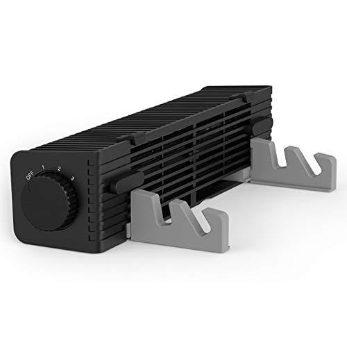 JCSW Base de Refrigeración para Portátil, Ventilador PC para 12-18 Pulgadas Gaming Laptop Cooler Cooling Pad, 1 Ventiladores silenciosos y Pantalla LCD, 2 Puertos USB P003QD