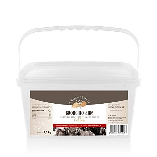 Golden Peanut Bronchio Aire Granulés à base de plantes bronchiques pour les chevaux 1,5 kg Seau