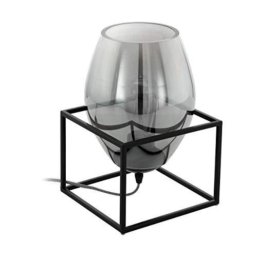 EGLO 97209 Tischleuchte der Serie OLIVAL 1 aus Stahl in schwarz