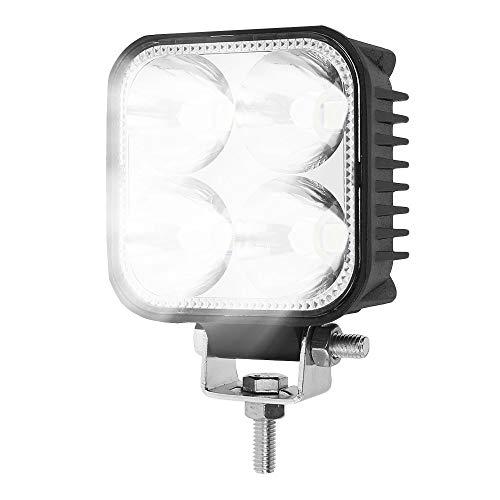 2 Piezas Focos de Coche LED 4 LEDs 10W 2200LM Impermeable para 12-60V Motocicleta Trabajo para Coche Tractor Camión Barco Todoterreno