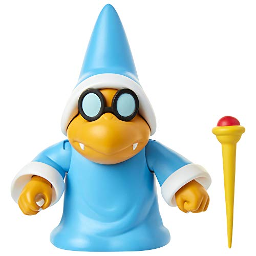 SUPER MARIO Nintendo Collectible Magikoopa 4' Poseable Articulated Action Figure with Wand Accessory, Perfect for Kids & Collectors Alike! for Ages 3+