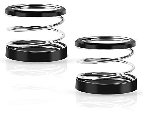 Hrbtag Portavasos Universal para Coche, 2 Piezas Portavasos para Automóvil Soporte de Bebidas para Coche Acero Inoxidable con Cinta de Doble Cara para Botellas de Agua, Tazas de Café (Negro)