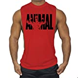 Cabeen Hommes Animal Débardeur Side Cut Tank Tops Musculation Bodybuilding