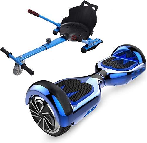 Scooters eléctricos karts, equipados con Bluetooth 6.5 pulgadas scooters autobalanceados, scooters eléctricos Karting,Blue