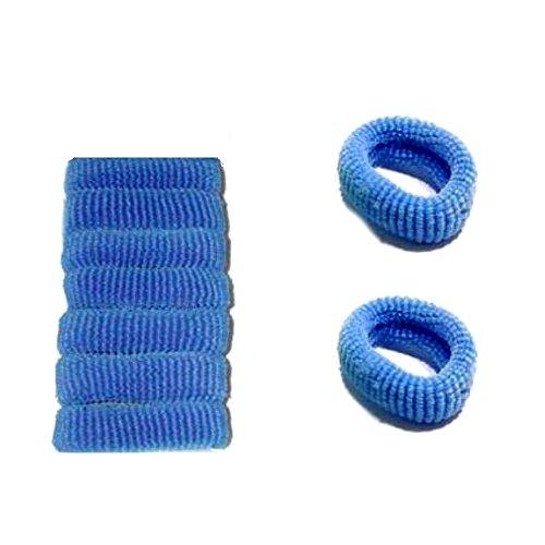 Accessoires Cheveux : 9 chouchous mousse bleu