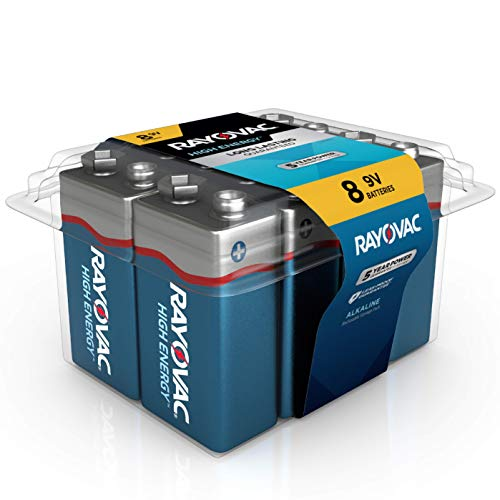 Rayovac 9V Batteries, Alkaline 9V Battery (8 Count)